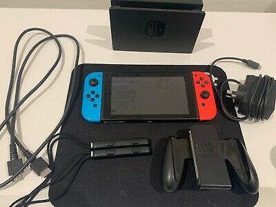 Nintendo Switch Neon Blue/Red Console - PERFECT Condition - WORLDWIDE - POSTAGE