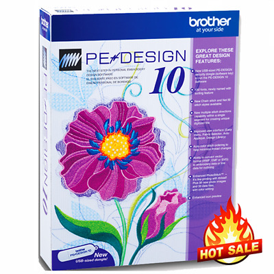 Brother PE Design 10 Embroidery Full Software 2020 🔥 Free Gifts🔥 FAST DELIVRY