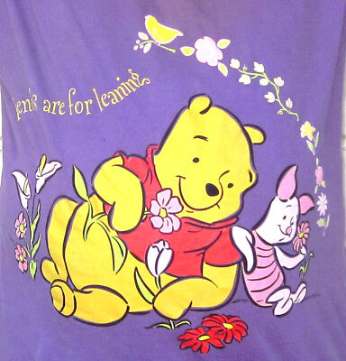"""""""Friends are for Leaning"""" Winnie the Pooh & Piglet t-shirt nightshirt Disney tee"""
