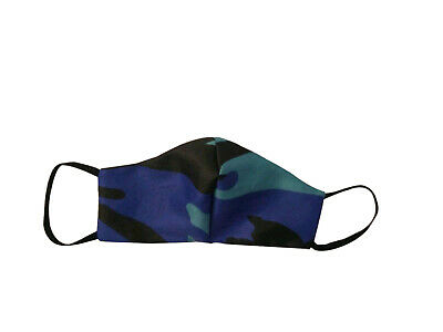 Blue Camouflage Facemask, washable reusable reversible