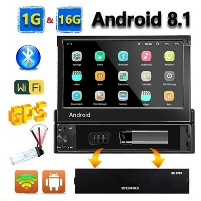 Android 8.1 1Din GPS Navi Wifi Bluetooth Autoradio 7 '' Touch Screen MP5 Player