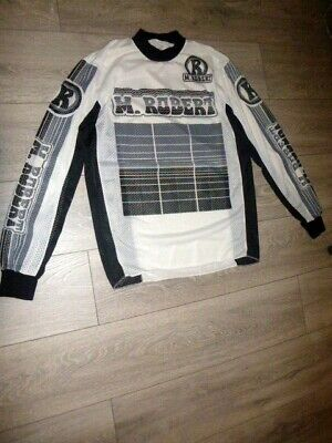 Motocross Vintage 1980'S M. Robert Rare Mesh Race Jersey Made In Italy M.robert!