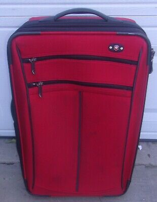 Victorinox Swiss Army Red Carry On Luggage Expandable Bag Has Some Light Wear
