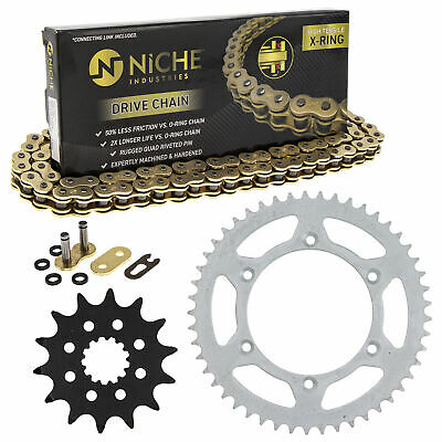 Sprocket Chain Set for Yamaha YZ250 YZ400F 14/49 Tooth 520 X-Ring Front Rear Kit