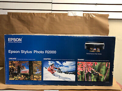 NIB Epson Stylus Photo R2000 Wireless Wide-Format Color Inkjet Printer