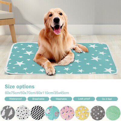 Pet Pee Pads Mats Large Puppy Training Pad Toilet Pee Wee Cat Pet Dog Washable