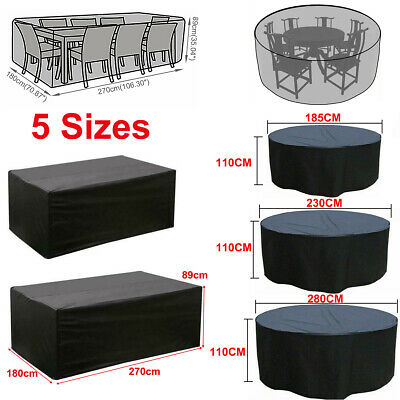 Large Water Resistant Outdoor Furniture Cover Garden Patio Rattan Table Cover UK