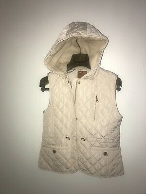 NEW~ZARA Girls~Cream~Lightly Quilted~Fully Lined~Sleeveless Gilet~JACKET~11-12y