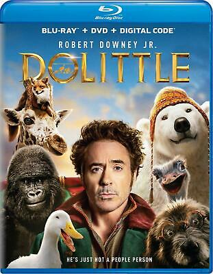 Dolittle (Blu-ray and DVD, 2020) Robert Downey Jr - No Digital. Open But New!