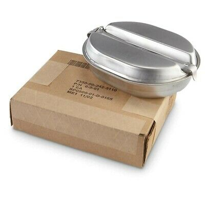Used Mess Kit Genuine US Military Issue  - Silverware NOT included