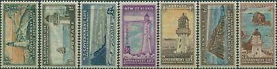 New Zealand Life Insurance 1947 SGL42-L49 Lighthouses set MNH