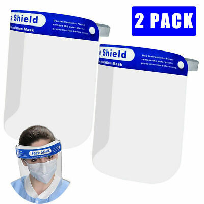 2pcs Full Face Covering Anti-Fog Shield Clear Glasses Face Protection Tooling Ap