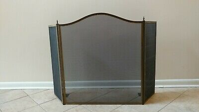 William H Jackson Antique NY Bronze 3 panel Neoclassical style fireplace screen