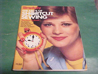 1976 Simplicity The Abc's Of Shortcut Sewing Magazine