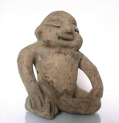Pre-Columbian Pottery /  Sitting Happy Man