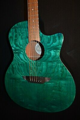 Luna Gypsy E QA Quilt Ash Teal Acoustic ELECTRIC Guitar - Free Shipping!