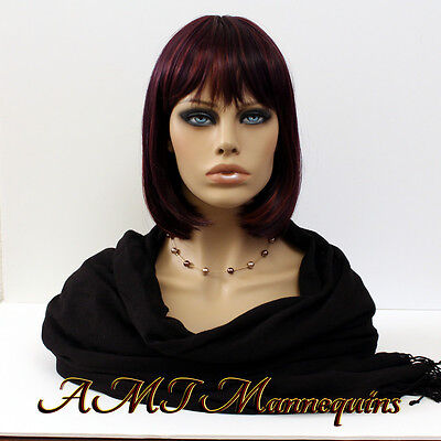 Female hand made mannequin heads, Realistic looking life size, Skin tone Head-FO