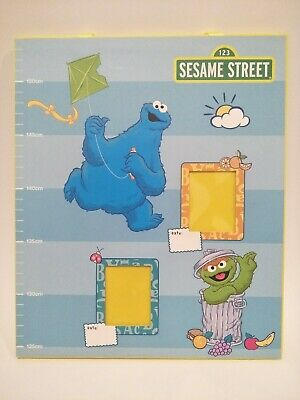 Sesame Street Child Height Chart with Photo Slots for Happy Memories