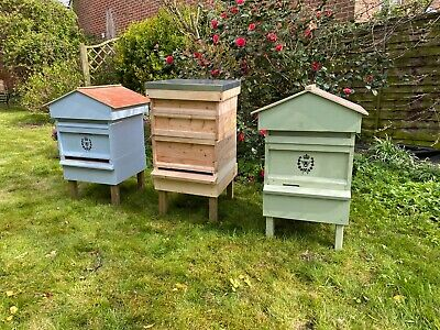 Hand Made Fully Built British National Bee Hive with Gabled Roof - POSTED