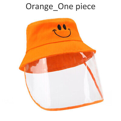 Fisherman Cap Protective Shield for Children Clear Full face cover Windproof Hat