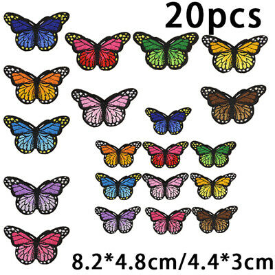 DIY Butterfly Mini Small Embroidered Patch,Iron-On/Sew-On Applique Motif Sticker