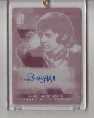 DOCTOR WHO TIMELESS Autograph Printing Plate Trading Card Frazer Hines 1 of 1
