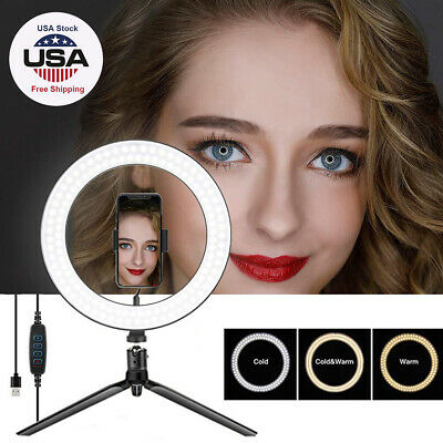 LED Ring Light Lamp Phone Selfie Camera Studio Video Dimmable Tripod Stand