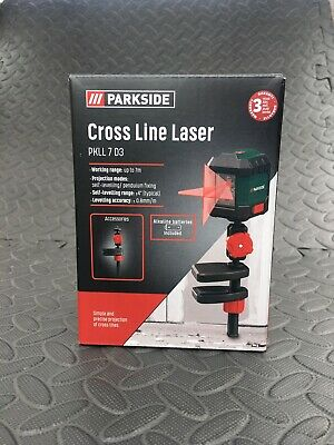 Brand New - Boxed  Parkside Cross Line Laser (PKLL 7 D3)