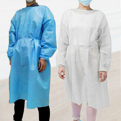 Disposable Unisex Non Woven Drawstring Breathable Protection Suit Isolation