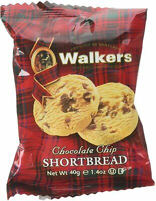 Walkers Chocolate Chip Shortbread,Pack of 20 X 2 Biscuits (40 Biscuits)