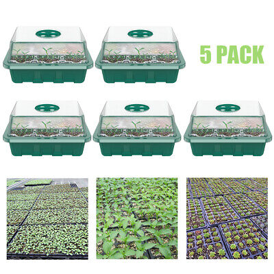 5X Propagator Kid Lids Seed Trays 12 Cell Inserts With Vent Dome Hole Garden Pot