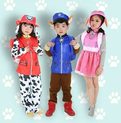 Boys Marshall Paw Patrol Cartoon Fireman Fancy Dress Costume Kids Child Ages 1-4