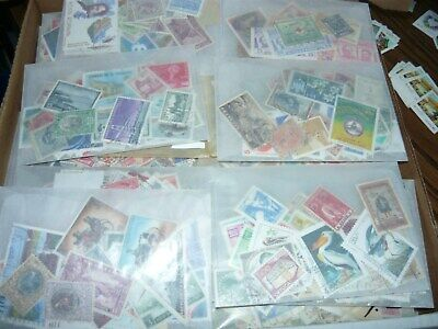 LOT#1 Lot Of Used , Off Paper   WORLD Postage Stamps in Glassines Envelopes.
