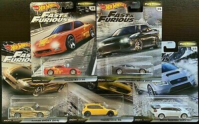 Hot Wheels 2020 FAST & FURIOUS Premium FAST TUNERS F Set of 5 IMPORTS 1/64 Scale
