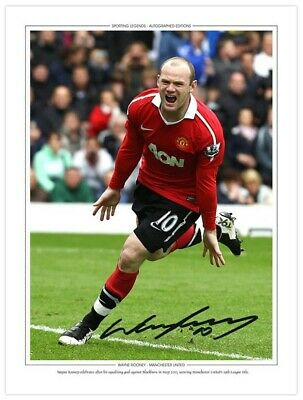 MU 038 - HAND SIGNED 16x12 PHOTO EDITION MAN UNITED 2011 WAYNE ROONEY