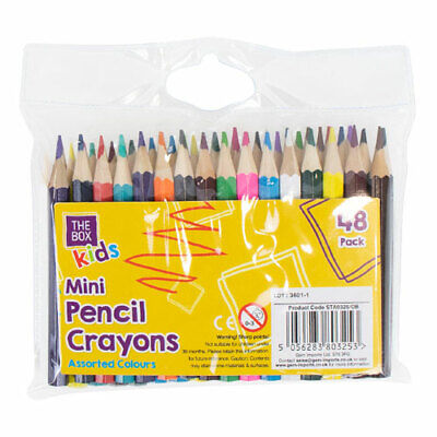 Colouring PENCIL COLOURS Mini Large Drawing Pencils Artists Drawing Kids Adults