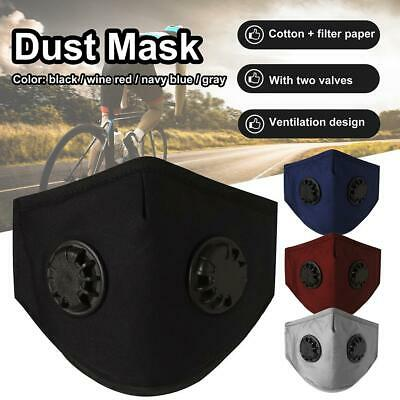 Washable Face Shield Mouth Muffle w/Filters Cover Anti Dust Air Pollution Mask