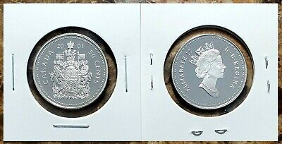 Canada 2001 Silver Proof Gem UNC Fifty Cent Piece!!