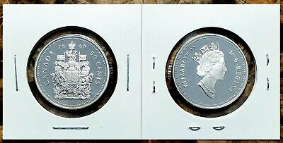 Canada 1999 Proof Gem UNC Silver Fifty Cent Piece!!