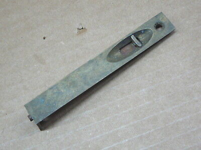 ANTIQUE SALVAGED BRASS  SLIDING DOOR TOE or TOP LATCH - END MORTISED  - 4x 9/16