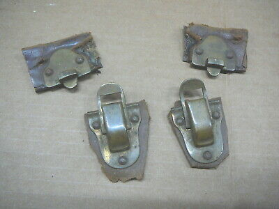 """PAIR of ANTIQUE BRASS TRUNK SUITCASE LATCHES - 1-3/8"""" x 2-5/8"""""""