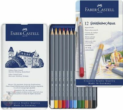 Goldfaber Aqua Watercolour Pencils Set Tin 12, 24, 36, 48