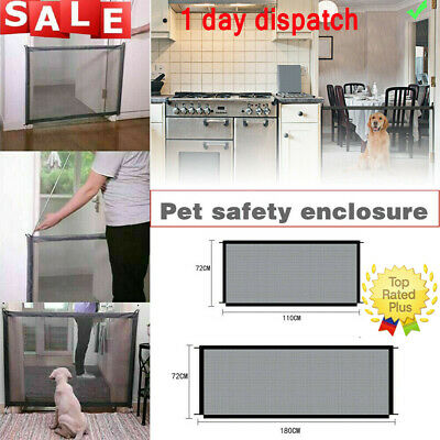 ✅UK Retractable Pet Dog Gate Safety Guard Folding Baby Stair Gate Isolation✅