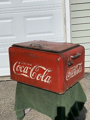 Vintage Coca Cola Westinghouse Junior Ice Chest Cooler Coke 1938  Starr X 1925