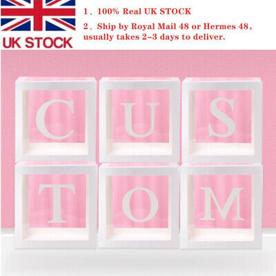 12'' Transparent White Box Letter A-Z Storage Balloon Baby Shower Birthday Decor