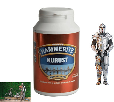 250ML Hammerite Kurust Rust Treatment for BBQ Metal Gates Garage Doors Radiators