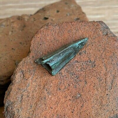 Ancient Greek Tri-Lobe Bronze Arrowhead / Arrow Head / Circa 300 BC