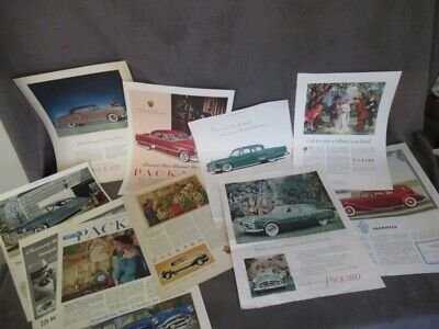 1931-1951 PACKARD Magazine Ad Collection - Nice Variety  dl