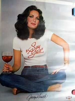 ORIGINAL Ca. 1979 Color Poster of Jaclyn Smith for Martini & Rossi