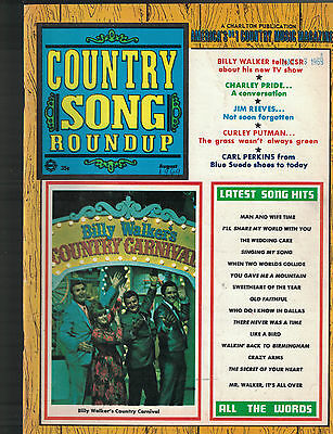 Country Song Roundup August 1969 Billy Walker's Country Carnival Carl Perkins